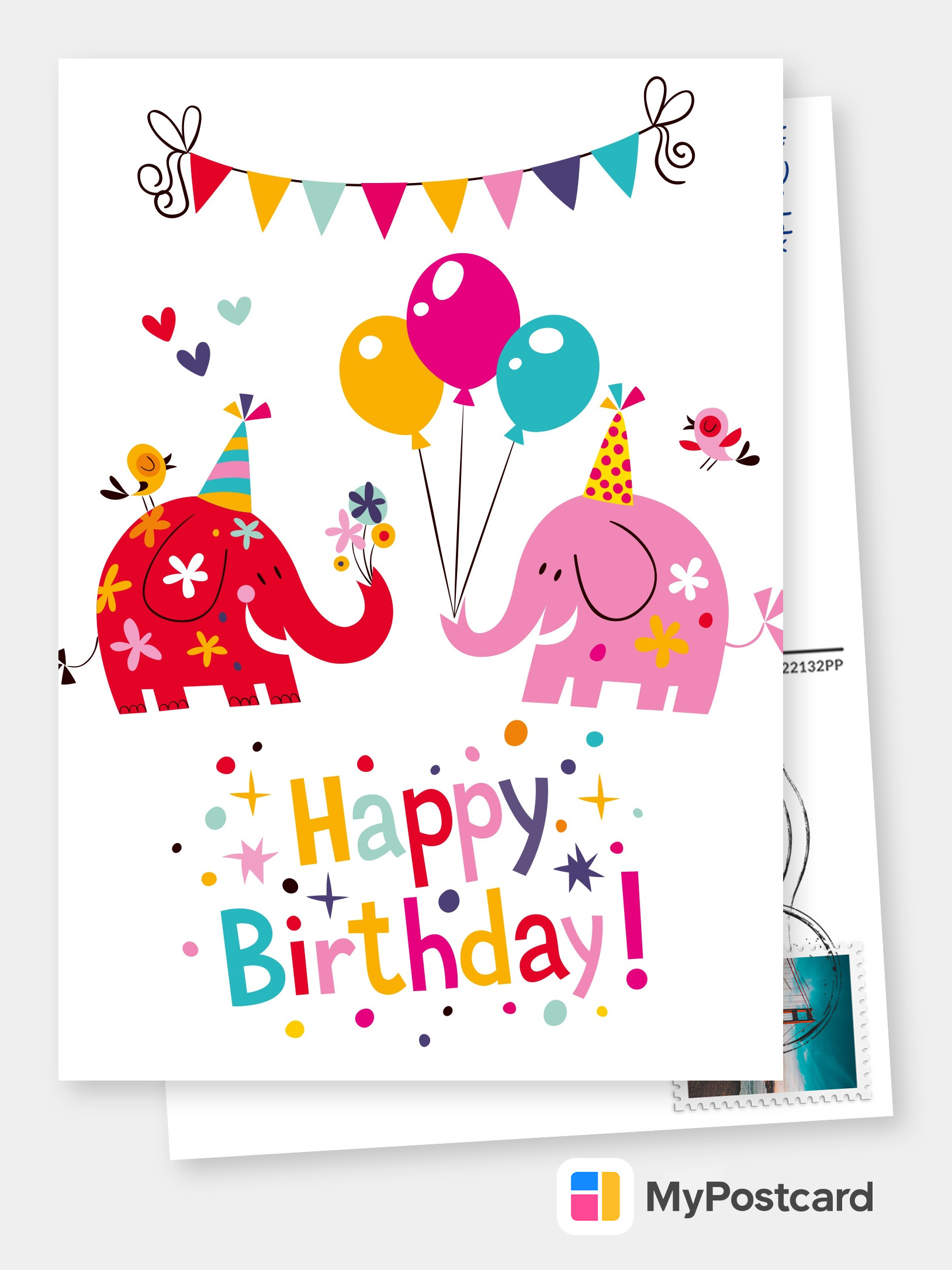 Create Your Own Happy Birthday Cards Free Printable Templates Printed Mailed For You Photo Cards Photo Postcards Greeting Cards Online Sevice Postcard App