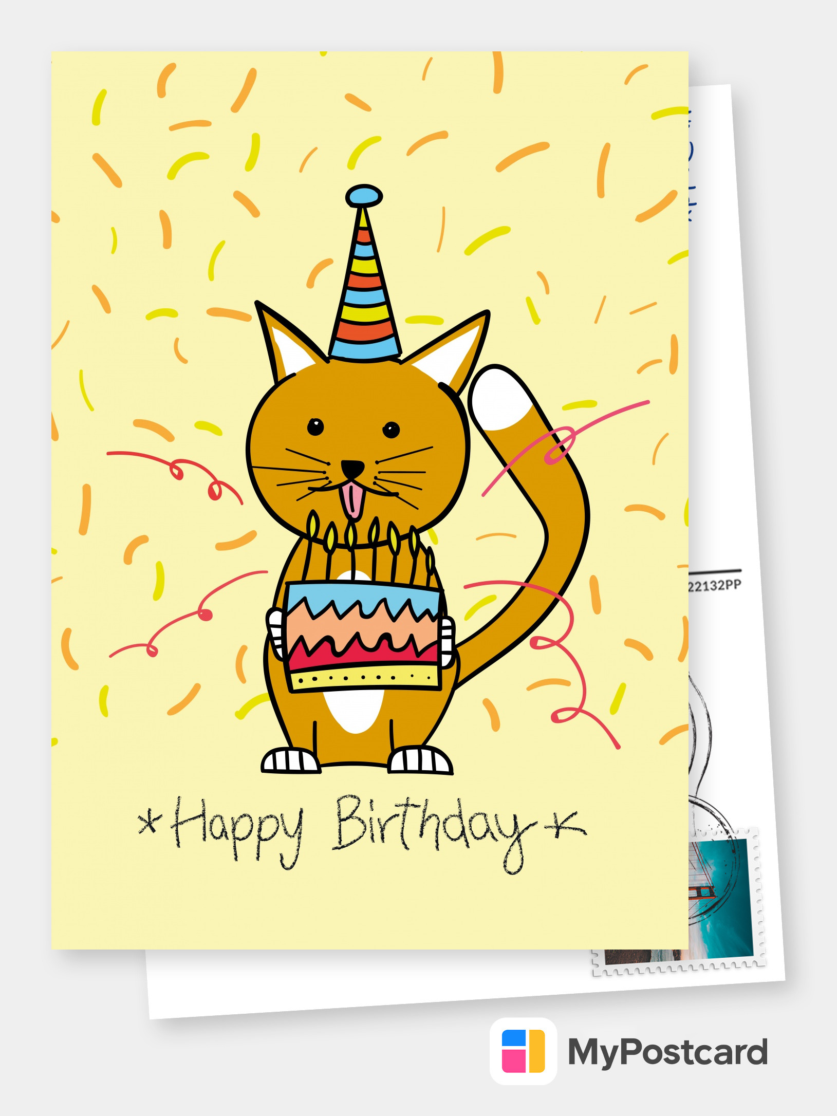 Free Printable Happy Birthday Cards Online Customized Cards Printed Mailed For You International Online Or With Our Free Postcard App Postcard Service